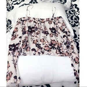 Floral Pacsun top, strapless or with straps!